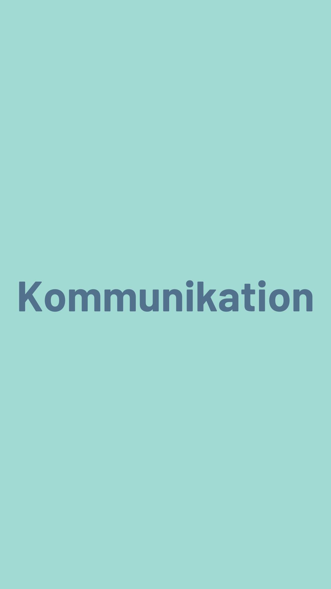 Kommunikation Text